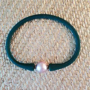 Hunter Green & Freshwater Pearl Bracelet